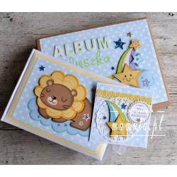 Prezent dla maluszka - album w pudełku i kartka