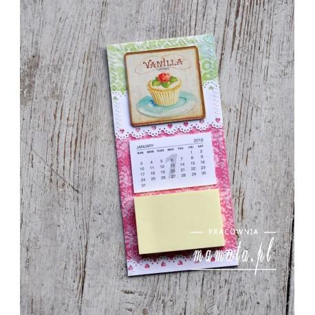 Lodówkowy zapiśnik z kalendarzem 2016