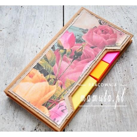 Różany notesik
