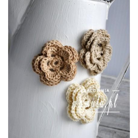 Pastelowe magnesy kwiatuszki 3 szt.