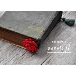 Romantyczna zakładka -szydełkowa róża