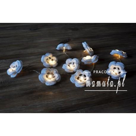 Girlanda świetlna- szydełkowe dzwonki 10szt
