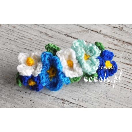 Kwiaty we włosach- spinka