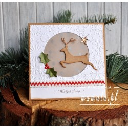 Kartka świąteczna z Rudolfem