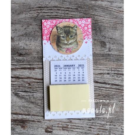 Lodówkowy zapiśnik z kalendarzem 2021
