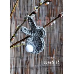 Zajączki ze sznurka 5szt