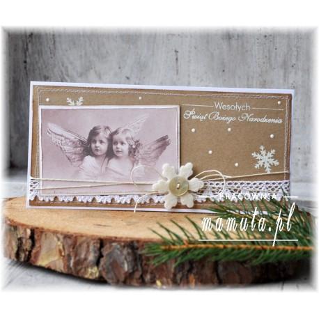 Retro życzenia z aniołkami